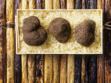 Black Truffles on Rice Photographic Print