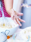 Child's Hand Covered in Dough Photographic Print by Alena Hrbkova
