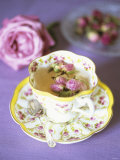 Tea with Rosebuds in Romantic Cup Photographic Print by Michael Paul