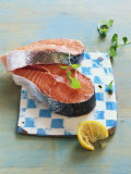 Two Salmon Cutlets Photographic Print by Matthias Hoffmann
