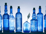 Blue Bottles Photographic Print by Luzia Ellert