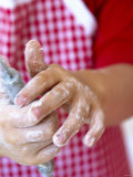 Child's Hands Using a Whisk Photographic Print by Alena Hrbkova