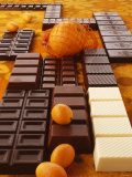 Still Life of Chocolate Bars and Citrus Fruit Photographic Print by Luzia Ellert