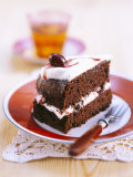 A Piece of Chocolate Cherry Cake Photographic Print by Nikolai Buroh