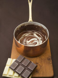 Melted Dark and White Chocolate in Pan Photographic Print by Anita Oberhauser
