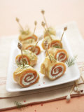 Crepe Rolls Filled with Smoked Salmon Photographic Print by Marc O. Finley