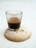 Espresso in Glass on Almond Biscuit Photographic Print by Véronique Leplat