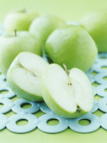 Green Apples, Whole and Halved Photographic Print by Maja Smend