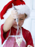 Girl Mixing Dough with a Whisk Photographic Print by Alena Hrbkova