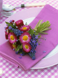 Place-Setting with Spring Posy Photographic Print by Friedrich Strauss