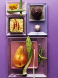 Interesting Combination of Foods on Plates Photographic Print by Luzia Ellert