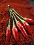 Chili Peppers on Powder Photographic Print