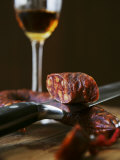 Chorizo and Glass of Sherry Photographic Print by Henrik Freek