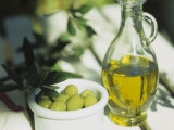 Olive Oil and Green Olives Photographic Print by Christine Gillé
