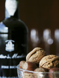 Walnuts, Hazelnuts and Bottle of Madeira Photographic Print by Henrik Freek