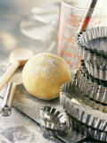 Still Life with Ball of Pastry and Various Baking Utensils Photographic Print by Jean-francois Rivi&#232;re