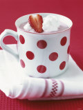 Strawberry Cream in a Cup Photographic Print by Alena Hrbkova
