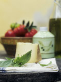 Basil, Parmesan, Tomatoes and Olive Oil Photographic Print