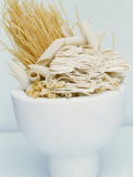 Various Types of Pasta in a Small Bowl Fotografisk tryk af Linda Burgess