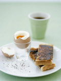 Hard-Boiled Breakfast Egg and Toast with Vegemite Photographic Print by Tanya Zouev