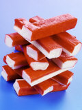 A Stack of Surimi Sticks Photographic Print