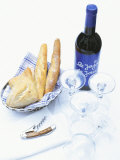 Bread and Wine Photographic Print by Peter Medilek