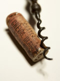 Wine Cork with Corkscrew Photographic Print by Joerg Lehmann