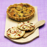 Mini Quiche Lorraine and Onion Tarts Photographic Print by Bernard Radvaner