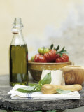 Basil, Cheese, Tomatoes and Olive Oil Photographic Print