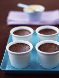 Pot Au Chocolate (Baked Chocolate Mousse) Photographic Print by Michael Paul