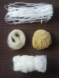 Four Different Types of Asian Noodles Photographic Print by Jean Cazals