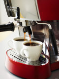 Espresso Running into Espresso Cups Photographic Print by Gerrit Buntrock