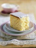 A Piece of Iced Almond Cake Photographic Print by Nikolai Buroh