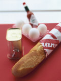 Baguette, Tin of Corned Beef, Eggs and Tabasco Photographic Print by Peter Medilek