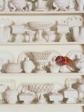 White Pottery on Shelves Photographic Print by Francis Hammond