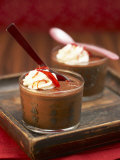 Chilli Chocolate Mousse in Two Glasses Photographic Print by Marc O. Finley
