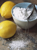 Two Lemons and Flour Photographic Print by Michael Paul