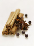 Cinnamon Sticks, Juniper Berries and Star Anise Photographic Print by Clare Plueckhahn