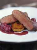 Fried Duck Breast with Cherries (France) Photographic Print by Jean Cazals