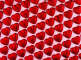 Red Chocolate Hearts for Valentine's Day Photographic Print