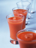 Gazpacho in Small Glasses Photographic Print by Ian Batchelor