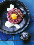 Beef Fillet Tartare with Wasabi Bearnaise Photographic Print by Jan-peter Westermann