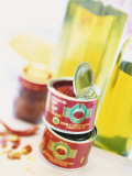 Tinned Tomato Paste and Olive Oil Photographic Print by Peter Medilek