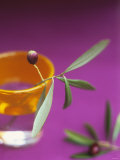 Olive Sprig with Olive in a Glass Photographic Print by Akiko Ida