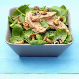 Spinach Salad with Goose Foie Gras and Chanterelles Photographic Print by Bernard Radvaner