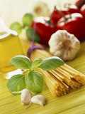 Ingredients for Italian Pasta Dish Photographic Print