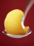 Mango Sorbet on a Spoon Photographic Print by Marc O. Finley