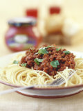 Spaghetti Bolognese Fotografisk tryk af Sam Stowell