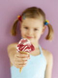 Small Girl with Amarena Cherry Ice Cream Photographic Print by Marc O. Finley