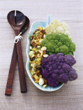 Three-coloured Cauliflower with Egg Salad Photographic Print by Susanna Blåvarg